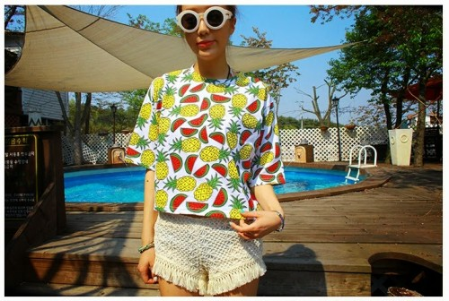 LZ-2014-summer-new-fashion-pineapple-watermelon-print-women-short-t-shirt-girls-tees-clothing-cotton