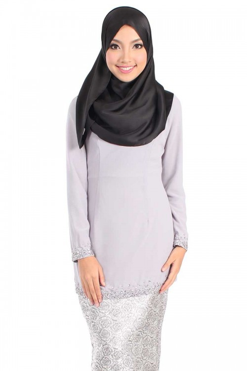 premium-rafidah-beaded-kurung-top-light-grey