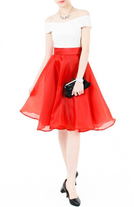 loveliest-ballet-organza-flare-skirt-red-2