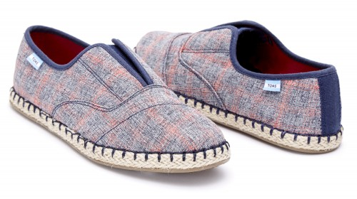 NAVY RED PLAID WOMEN'S PALMERA SLIP-ONS
